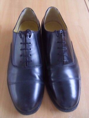 Black Leather Cadet Parade Uniform Shoes Capped Oxford RAF Style. Barely used 9