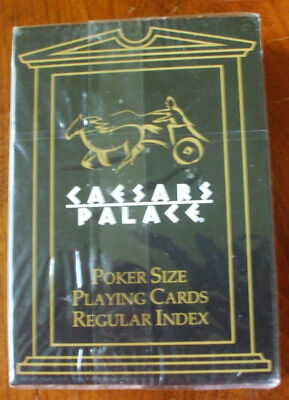 (1)Sealed Box Poker Size Wide Deck Playing Cards Caesars Palace Regular Index