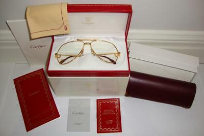 "CARTIER Vendome ""Santos"" Screw Gold Plated EYEGLASSES Complete SET GIFT IDEA"