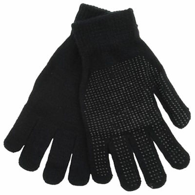 Magic GLOVES Grip Adult/Kid Unisex Black THERMAL MAGIC WINTER GLOVES Gripper