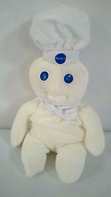 "1997 PILLSBURY DOUGHBOY Soft Plush Stuffed Bean Bag Doll 9"" 23cm"