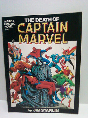 The Death of Captain Marvel / 1982 Graphic Novel - 1st Printing