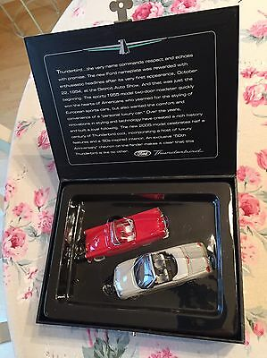 NEW COLLECTIBLE BOX Hallmark THUNDERBIRD 50TH ANNIVERSARY Ornaments 1955 & 2005