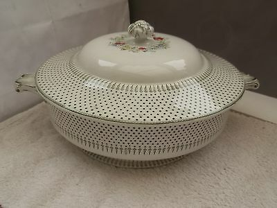 1841 - 1873 Minton And Co Twin - Handled Tureen   Spot And Wreath Pattern