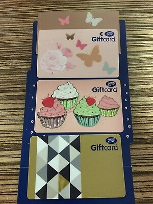 Boots Unused Gift Cards Worth 160£