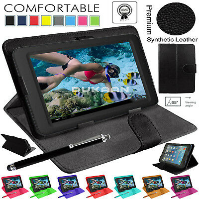 """Magnetic Flip Leather Case Universal Stand Fits Acer B1-780 Iconia One 7"""" Inch"""