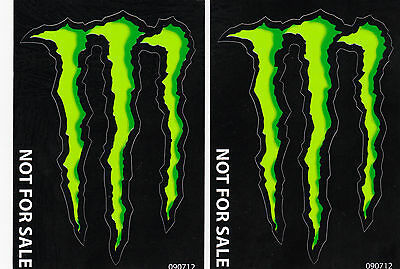 2 Two 3x4 MONSTER ENERGY decals stickers