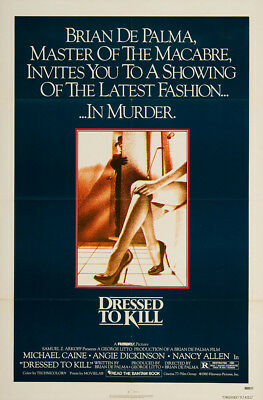 Dressed to Kill 1980 27x41 Orig Movie Poster Near Mint Michael Caine