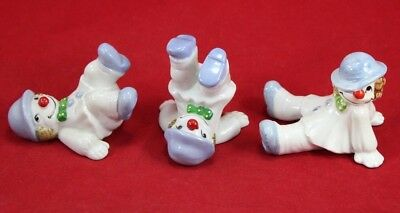 Vintage FF 1978 Tumbling Clowns Set Fitz & Floyd Porcelain Japan Cute Circus Lot