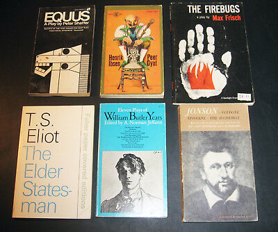 Large Lot of 27 Theater Play books -- Eliot, Beckett, Stoppard, Ibsen, more