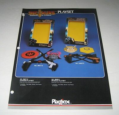 1984 Playtime Sectaurs  Toy Fair Promo Sales Sheet Prototype Merchandising