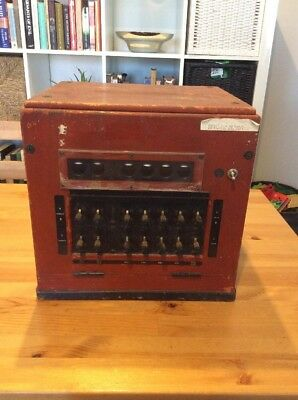 Vintage Telephone Switch Board; Switchboard; Collectable; Old Phone Box; Unique