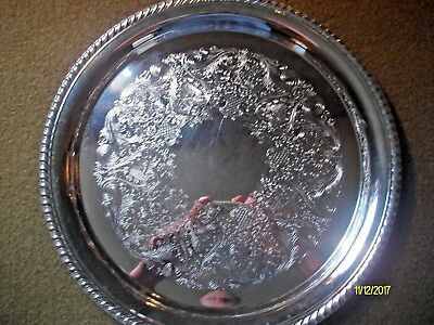 Wm Rogers - Silver Plate Serving Tray - Beautiful Antique Pattern