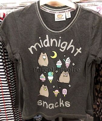 Womens Fitted T-Shirt Blue Pusheen /'Hi//Bye/' NEW /& OFFICIAL!