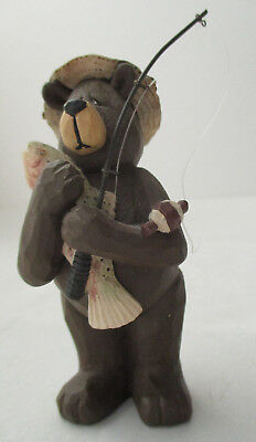 Mary Ann June Father Bear Fishing Figurine
