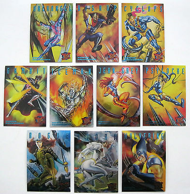 1995 FLEER ULTRA X-MEN Sinister Observations 10 CARD CHASE SET nm/MINT Marvel