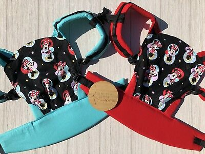 Doll Carrier- Mini Soft Structured Carrier - Black Mini Mouse
