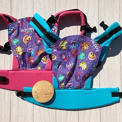 Doll Carrier- Mini Soft Structured Carrier - Purple Shopkins