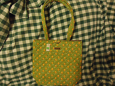Longaberger Sunflower Paisley Green Toggle Tote Purse--new--SALE!!!