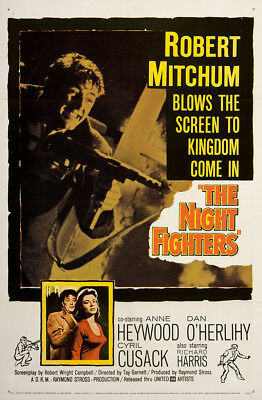 The Night Fighters 1960 27x41 Orig Movie Poster FFF-03290 Near Mint, Very Fine