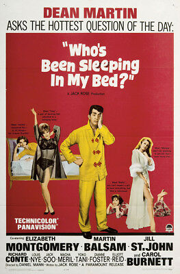 Who/'s Been Sleeping in My Bed 1963 Dean Martin Vintage Repro 12x18 Movie Poster