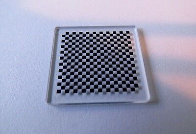 Chess board calibration plate Stage 63x63mm 1x1 mm squares High Precision