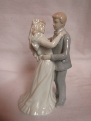 Vintage Roman, Inc. First Dance Bride And Groom Porcelain Cake Topper Figurine