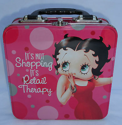 2010 Betty Boop Retail Therapy Tin Box with Handle - King Features Syndicate