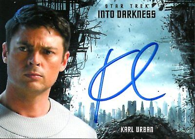 Star Trek Beyond INTO DARKNESS DESIGN AUTOGRAPH CARD of KARL URBAN as MCCOY