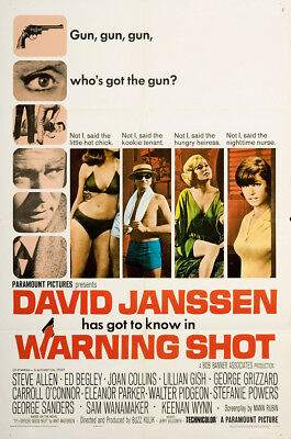 Warning Shot 1967 27x41 Orig Movie Poster FFF-02742 Fine, Very Good Keenan Wynn
