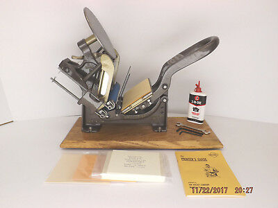 Kelsey 3x5 Model N Letterpress serial A73K - reconditioned & 100% print ready
