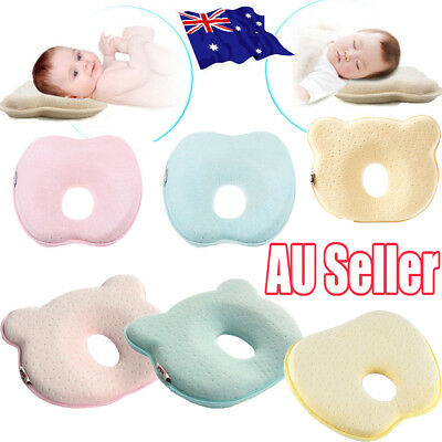 Baby Infant Newborn Memory Foam Pillow Prevent Flat Head Anti Roll Support AU S4