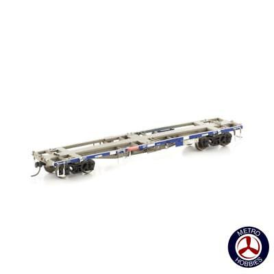 Auscision HO NCW-31 NQYY Container Wagon Pacific National Blue & Wagon Grime 4pc