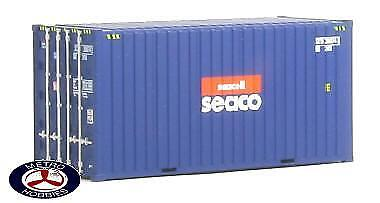 Auscision HO CON-5 20ft Hi-Cube Container Seacell Seaco Twin Pack AM10037 Brand