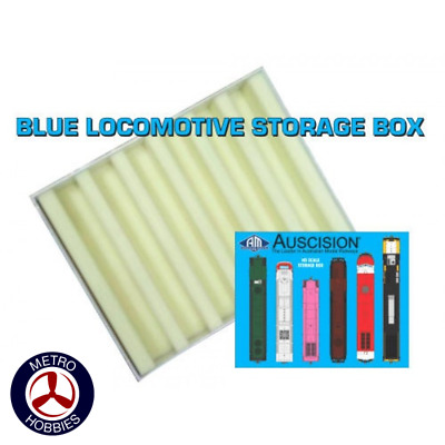 Auscision HO Blue Locomotive Storage Box (Vertical Liners) AM10999 Brand New