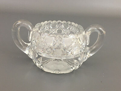 Antique McKee Glass Co. clear pressed glass sugar bowl, #1024 INNOVATION  c.1917