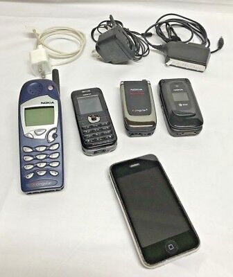 Nokia IPhone Cell Phone Vintage Lot 5165 6030 6061 6085 A1241 Cingular AT&T