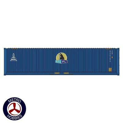 Auscision HO CON-130 40ft Royal Wolf Blue with New Logo V1 2pc AM11449 Brand New