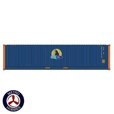 Auscision HO CON-131 40ft Royal Wolf Blue with New Logo & Orange Posts V1 2pc AM
