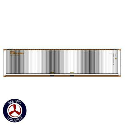 Auscision HO CON-132 40ft Container SCF Rail Containers White & Orange V1 2pc AM