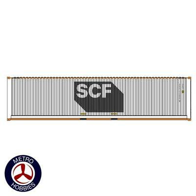Auscision HO CON-135 40ft Container SCF White with Yellow & Grey Logo V2 2pc AM1