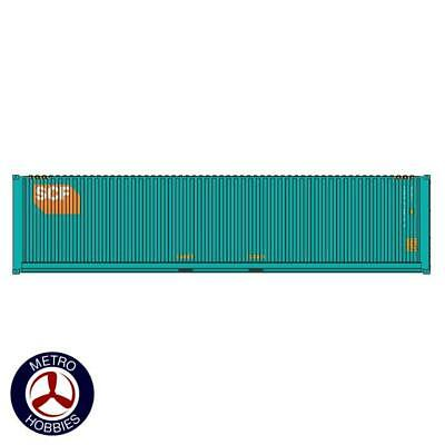 Auscision HO CON-141 40ft Container SCF Teal with Medium Orange Logo V3 2pc AM11