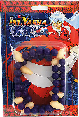 Inuyasha Beads of Subjugation Fang Necklace Officially Licensed Anime Cosplay