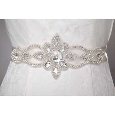 Hot Rhinestones Bridal Sash Wedding Dress Sash Beaded Belt Crystal Waist Belt
