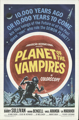 Planet of The Vampires 1965 27x41 Orig Movie Poster FFF-17161 Fine Barry Sull...