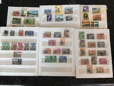 Small collection of Stamps - Gold Coast / Ghana
