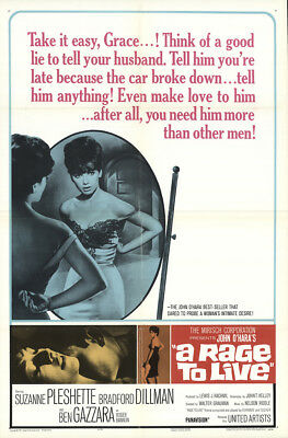 A Rage To Live 1965 27x41 Orig Movie Poster FFF-16921 Fine, Very Good
