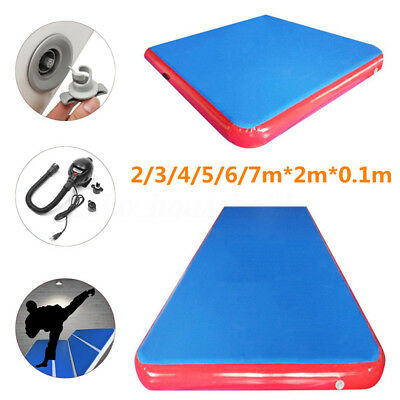 2/3/4/5/6/7m*2m*0.1m Outdoor Sport Air Mat Inflatable Tumbling Track Gymnastics