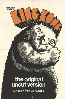 King Kong 1968 27x41 Orig Movie Poster FFF-14285 Fine, Very Fine Bruce Cabot