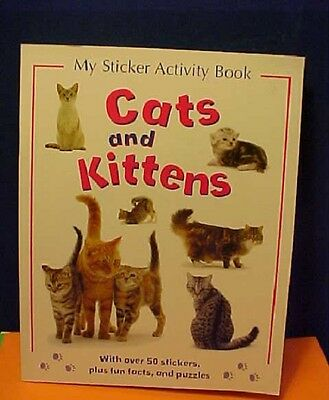 The Cats & Kittens sticker activity book  stamp unused